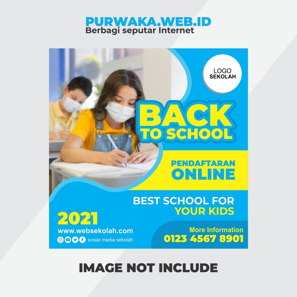 Download 20 Banner Sekolah SD, SMP, SMA Vector Corel, download banner sosial media post template corel draw untuk sd smp sma pendaftaran sekolah online back to school