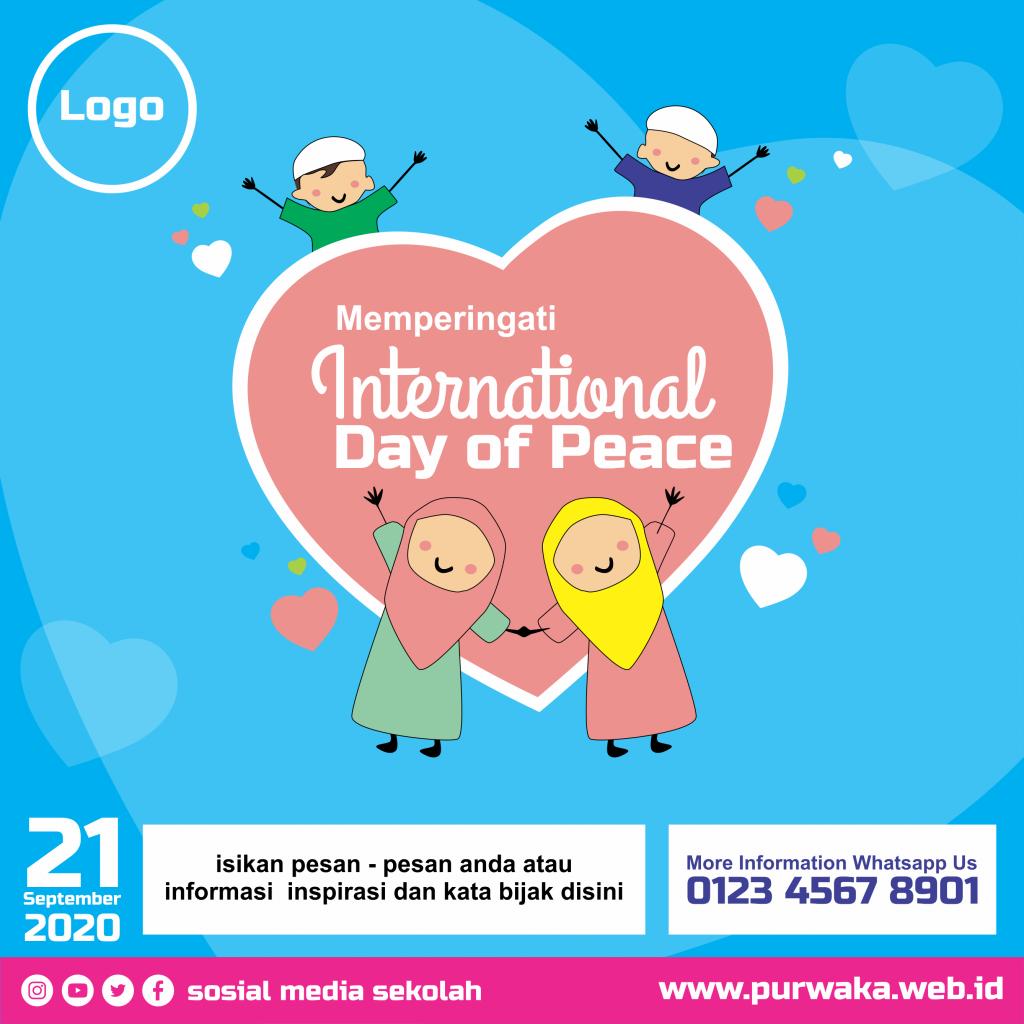 Free Vector - Template Social Media Banner Hari Perdamaian Dunia 2020