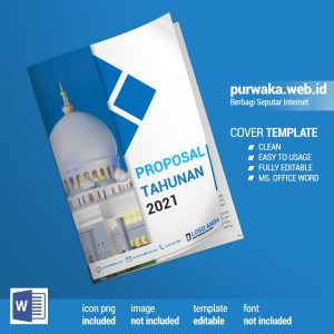 Download Template Cover Proposal Masjid 2021 Siap Edit - Ms Office Word