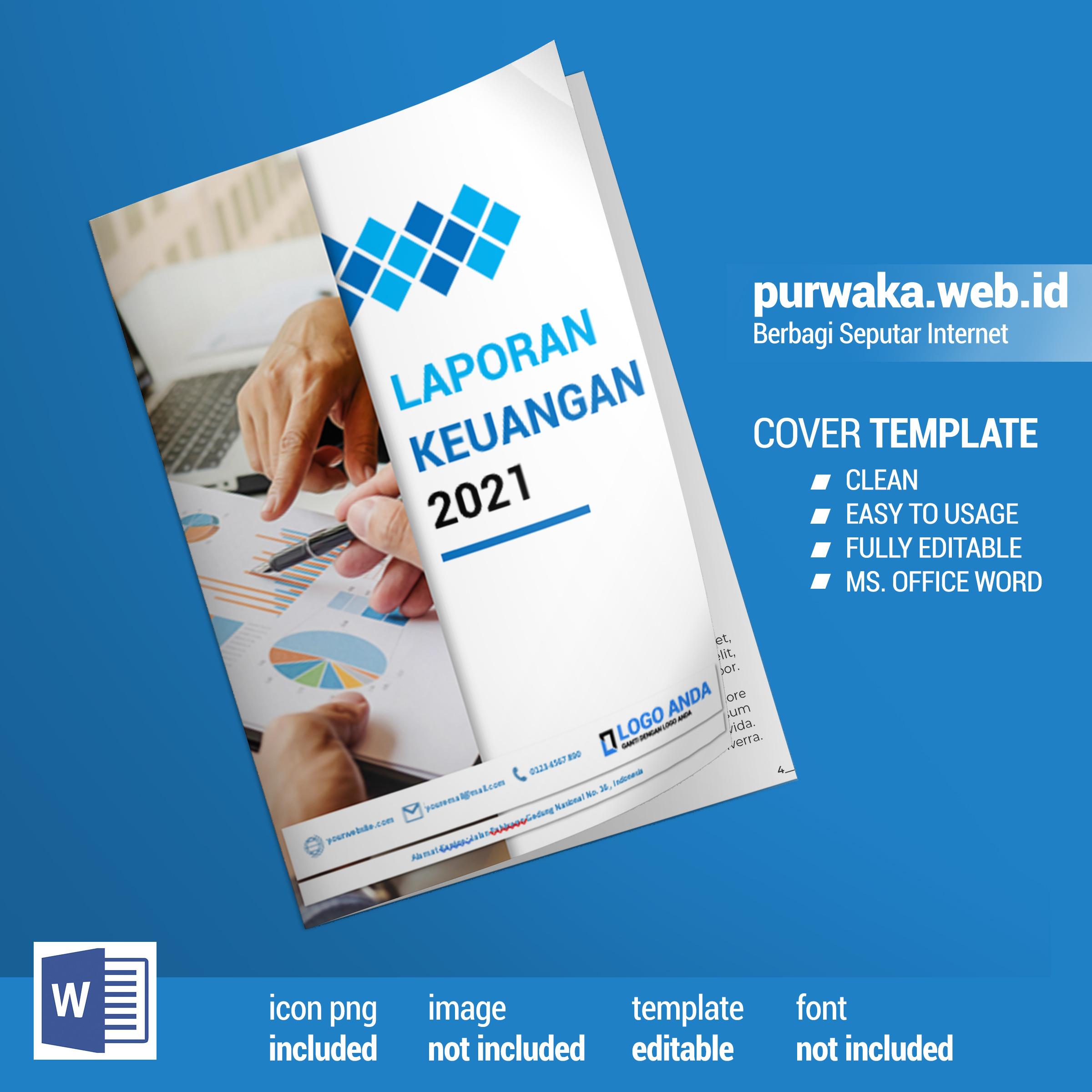 Download Template Cover Laporan Keungan Siap Edit 2021 - Ms Office Word