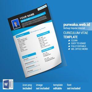 Download Template Curiculum Vitae CV Siap Edit untuk Fresh Graduate - Ms. Word